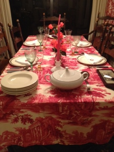 The table awaits it's guests